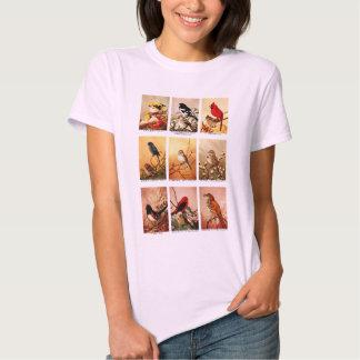 Pájaros del vintage camisetas