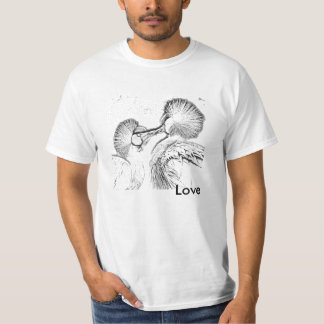 Pájaros en amor camiseta
