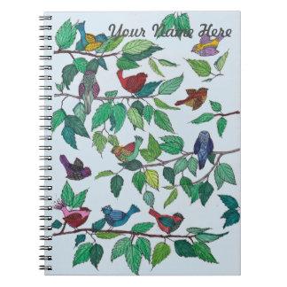 Pájaros en el cuaderno de las ramas