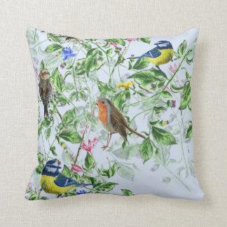 pájaros hermosos cojín decorativo