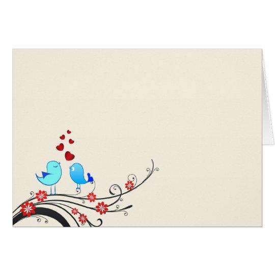 Pájaros hermosos del amor tarjeta de felicitación