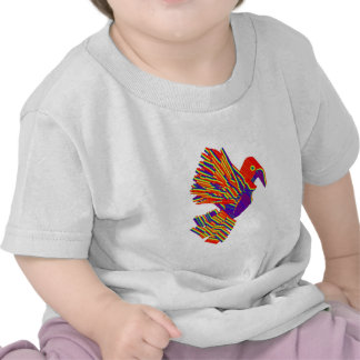 Pájaros múltiples, dibujos animados, caricatura en camiseta