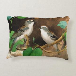 pájaros que pintan la almohada de la decoración cojín decorativo