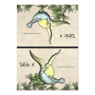 Pájaros rústicos del amor (tarjetas plegables del invitación 12,7 x 17,8 cm