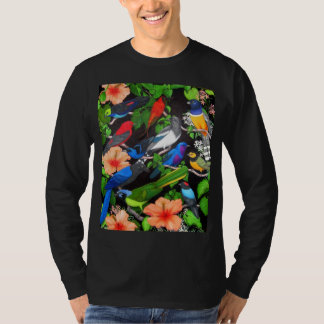 Pájaros tropicales de la manga larga de México Camisetas