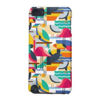 Pájaros tropicales geométricos carcasa para iPod touch 5G