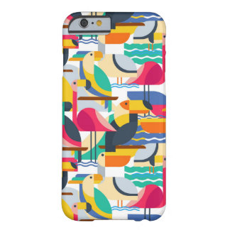 Pájaros tropicales geométricos funda barely there iPhone 6