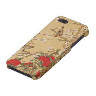 Pájaros y flores del vintage iPhone 5 protectores