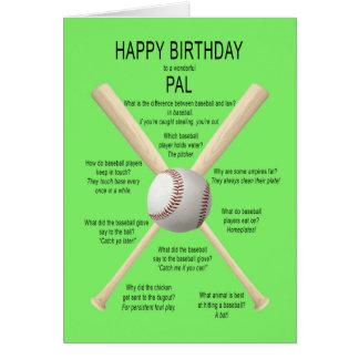 PAL, chistes del béisbol del cumpleaños Tarjeta De Felicitación