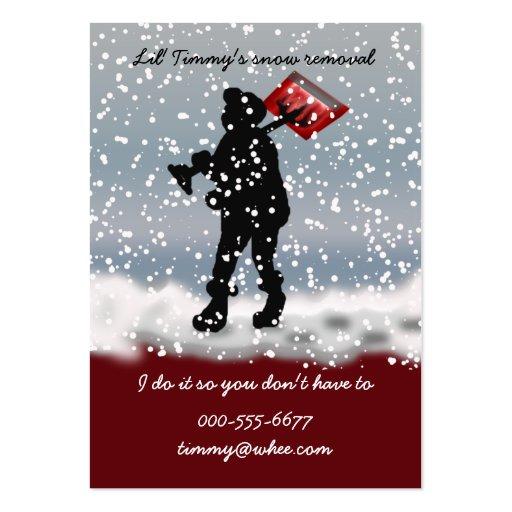 pala de la nieve tarjetas de visita