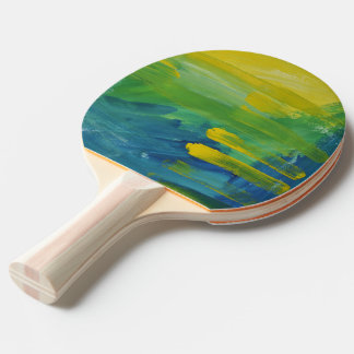 Pala De Ping Pong Acento brillante. Paleta del ping-pong