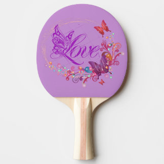 Pala De Ping Pong Amor de la mariposa