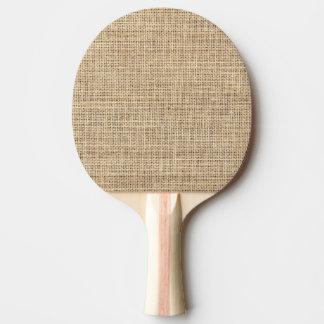 Pala De Ping Pong Arpillera rústica del vintage del país