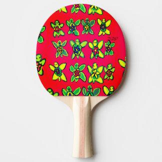 Pala De Ping Pong Arte de la flor de la tortuga