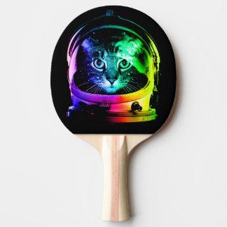 Pala De Ping Pong Astronauta del gato - gato del espacio - gatos