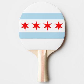 Pala De Ping Pong Bandera de Chicago, Illinois