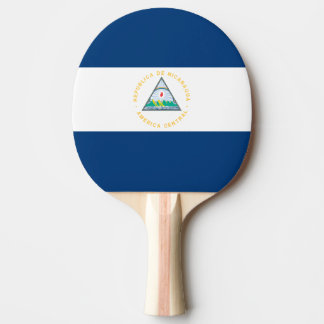 Pala De Ping Pong Bandera de Nicaragua
