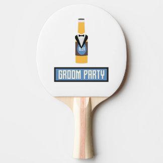 Pala De Ping Pong Botella de cerveza del fiesta del novio Z77yx