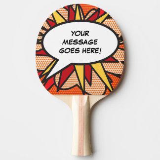 Pala De Ping Pong Burbuja personalizada del discurso del arte pop