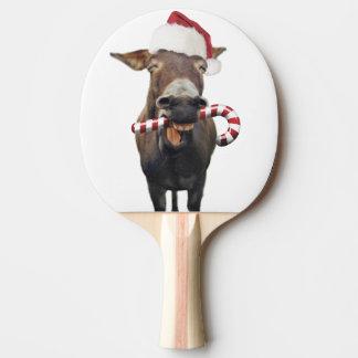Pala De Ping Pong Burro del navidad - burro de santa - burro santa