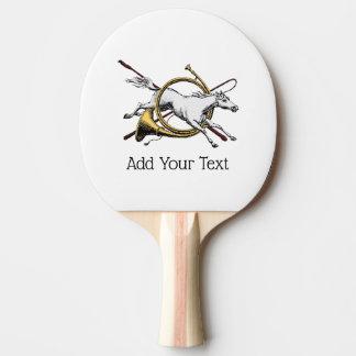 Pala De Ping Pong Caballo ecuestre de muy buen gusto que salta con