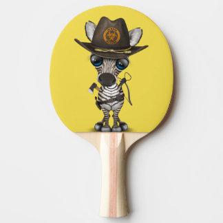 Pala De Ping Pong Cazador del zombi de la cebra del bebé
