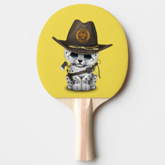 Pala De Ping Pong Cazador lindo del zombi de Cub de la onza