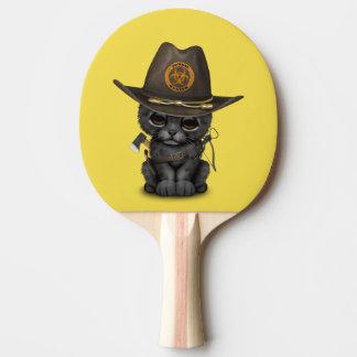 Pala De Ping Pong Cazador lindo del zombi de Cub de la pantera negra