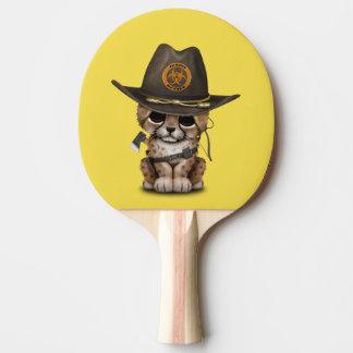 Pala De Ping Pong Cazador lindo del zombi de Cub del guepardo
