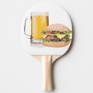 Pala De Ping Pong cerveza y hamburguesa