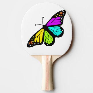 Pala De Ping Pong Clipart colorido de la mariposa