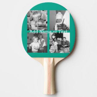 Pala De Ping Pong Collage con 4 imágenes - esmeralda de la foto de