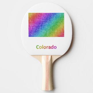 Pala De Ping Pong Colorado