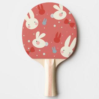 Pala De Ping Pong Conejitos de pascua lindos en modelo rojo del
