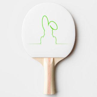 Pala De Ping Pong Contorno de una liebre verde clara