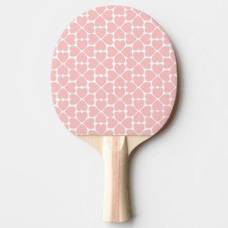Pala De Ping Pong Corazones del trébol de la hoja del rosa cuatro