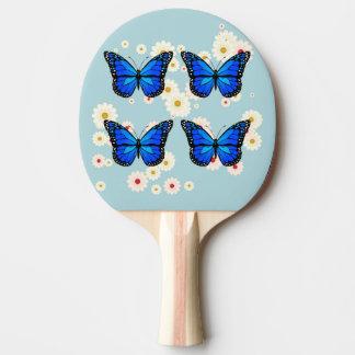 Pala De Ping Pong Cuatro mariposas azules