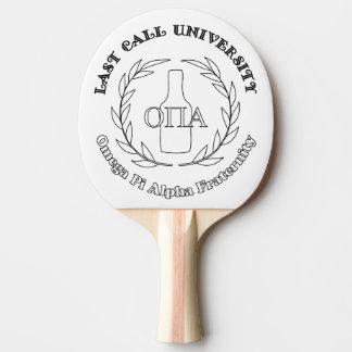 Pala De Ping Pong De la última llamada fraternidad Uni OPA