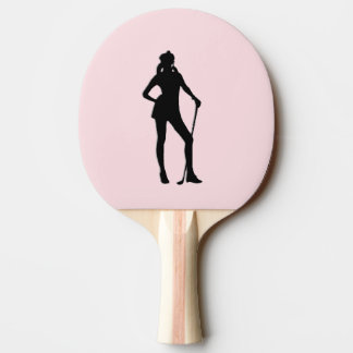 Pala De Ping Pong Deporte femenino del rosa del golf