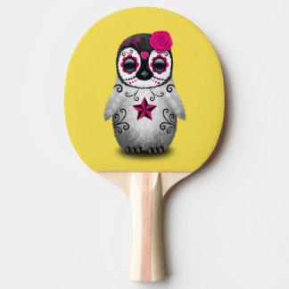 Pala De Ping Pong Día rosado del pingüino muerto del bebé