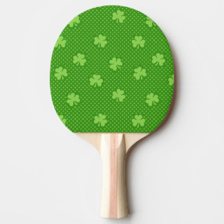 Pala De Ping Pong Día verde de Patricks del santo del modelo del