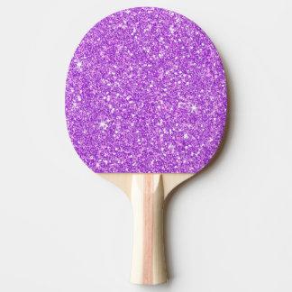 Pala De Ping Pong Diamante de lujo brillante del brillo púrpura del