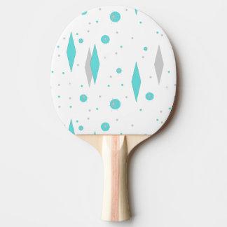 Pala De Ping Pong Diamante retro de la turquesa y ping-pong Padd de