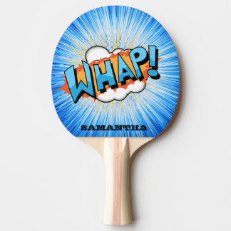 Pala De Ping Pong ¡El azul maravilloso Whap! Paleta personalizada