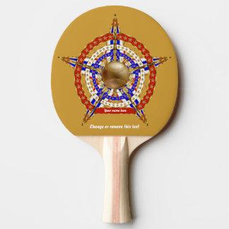 Pala De Ping Pong El béisbol hace juego la opinión de la tabla de la