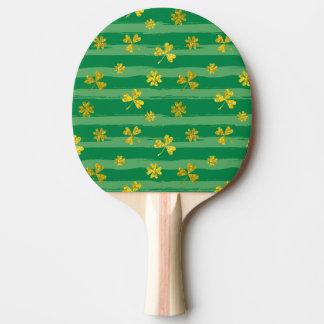 Pala De Ping Pong El verde de oro del trébol de St Patrick raya el