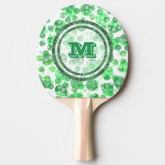 Pala De Ping Pong El verde mancha el monograma