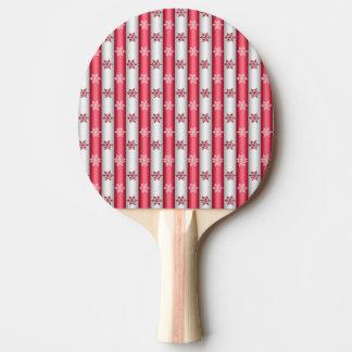 Pala De Ping Pong Escamas de la nieve del navidad