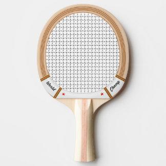 Pala De Ping Pong Estafa de tenis de madera del vintage