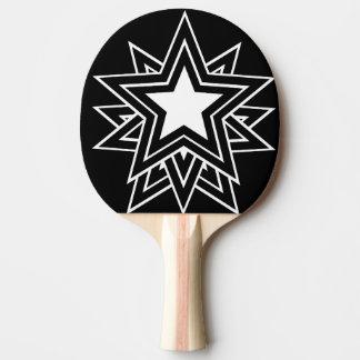Pala De Ping Pong estrella negra